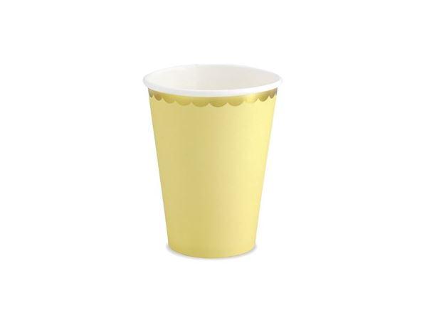 Imagens de Vasos color amarillo borde dorado (6)