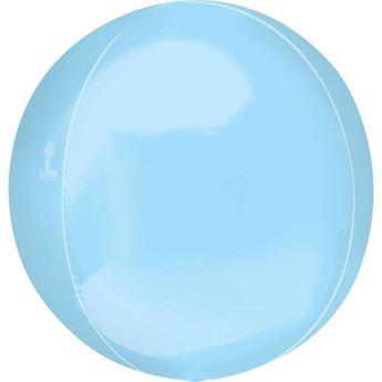 Imagen de Globo azul pastel esférico
