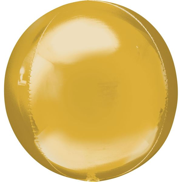 Imagen de Globo dorado Jumbo esférico 53cm