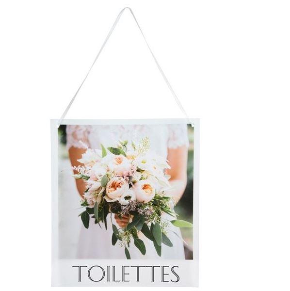 Imagen de Cartel boda Toilettes (1)