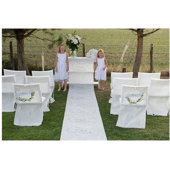 Imagens de Alfombra blanca Boda altar (10m)
