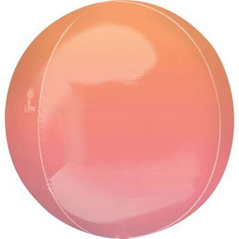 Picture of Globo dos tonos rojo & naranja esférico (1)