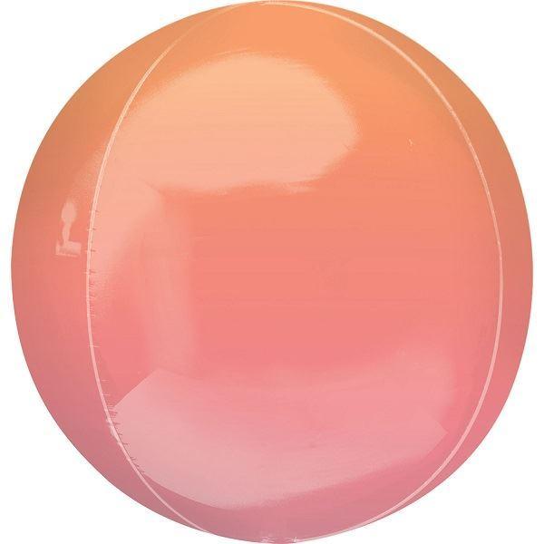 Imagen de Globo dos tonos rojo & naranja esférico (1)