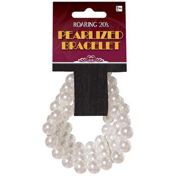 Imagens de Brazalete perlas blancas años 20