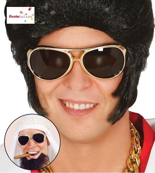 Imagen de Gafas Rey del Rock doradas