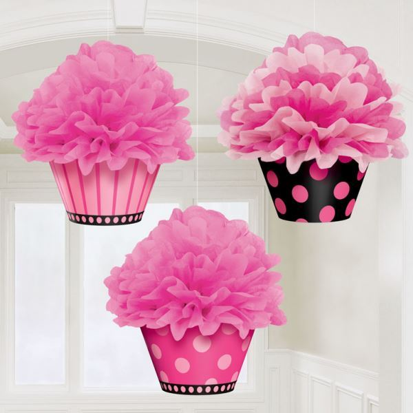 Imagen de Decorados colgantes Pompón Cupcake (3)