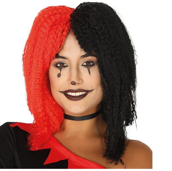 Imagens de Peluca melena Roja y Negra
