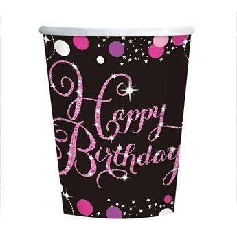 Imagen de Vasos Happy Birthday Glamour (8)