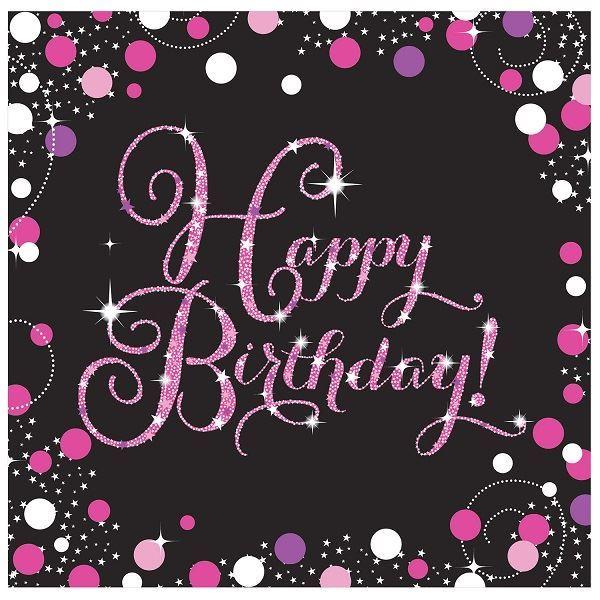 Imagen de Servilletas Happy Birthday Glamour (16)