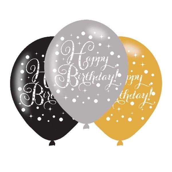 Imagen de Globos Látex Happy Birthday elegante (6)