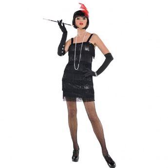 Imagen de Disfraz cabaret años 20 Negro (Talla L)