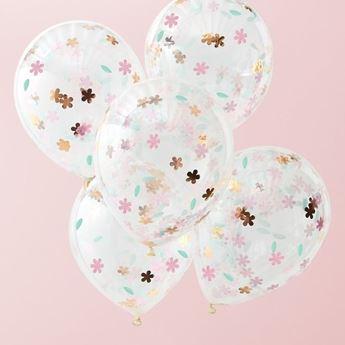 Imagen de Globos Floral transparente (5)