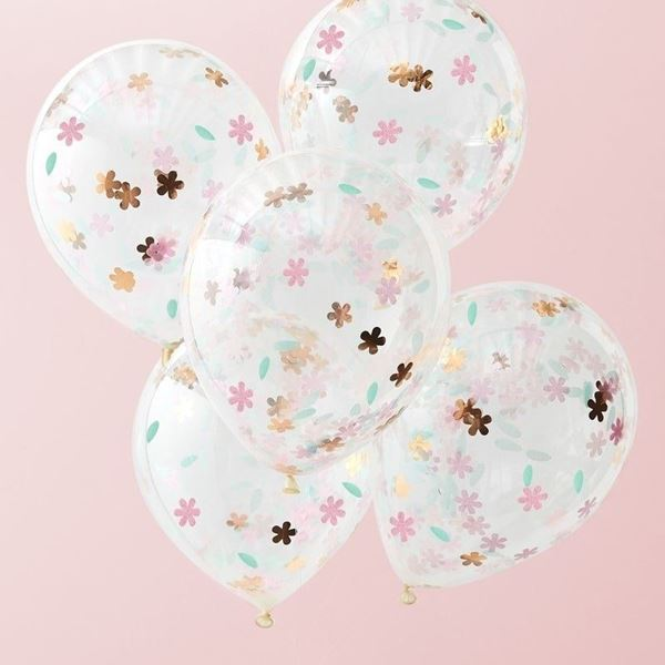Picture of Globos Floral transparente (5)