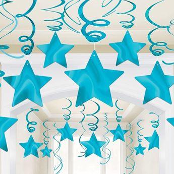 Imagen de Decorados espirales estrellas Azul caribe (30)