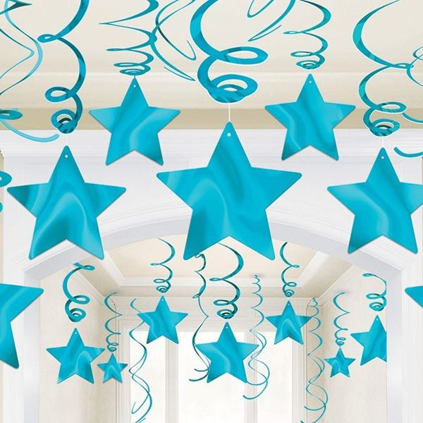 Imagens de Decorados espirales estrellas Azul caribe (30)