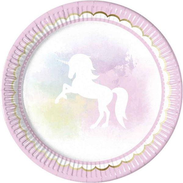 Imagen de Platos Unicornio pastel (8)