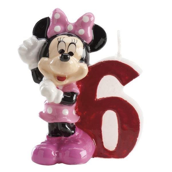 Imagen de Vela 6 Minnie Mouse Disney