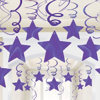 Picture of Decorados espirales estrellas Morado (30)