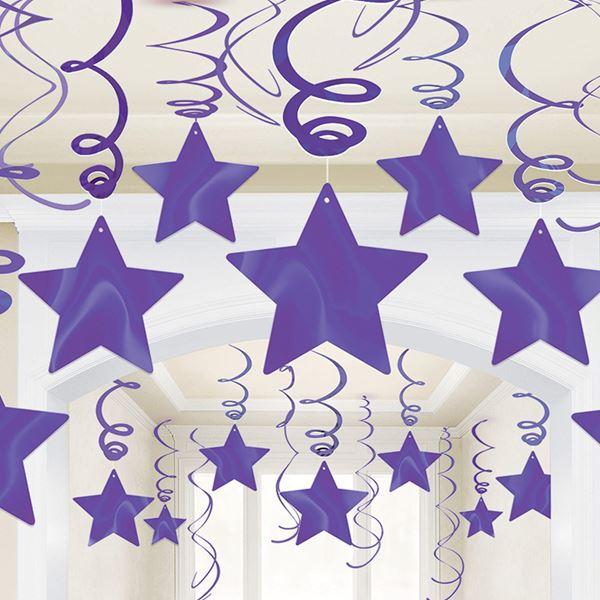 Picture of Decorados espirales estrellas Morado (30)