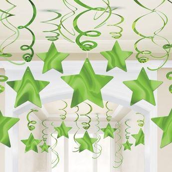 Imagen de Decorados espirales estrellas verde claro (30)
