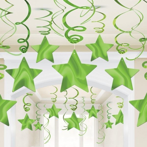 Picture of Decorados espirales estrellas verde claro (30)