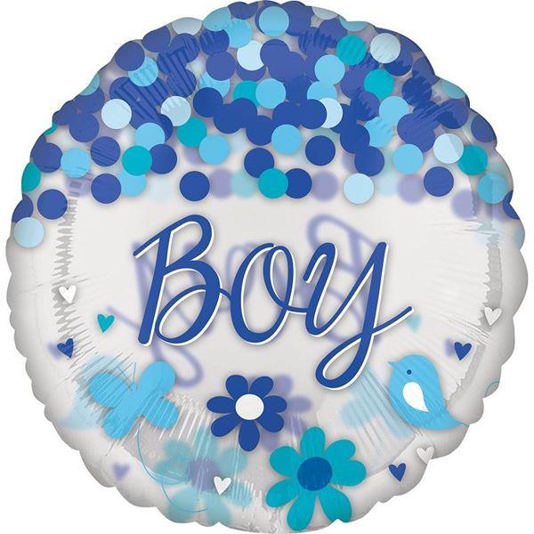 Picture of Globo Baby Boy gigante confeti