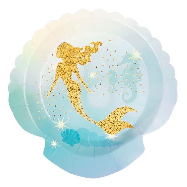 Imagens de Platos sirena Elegante dorada (6)