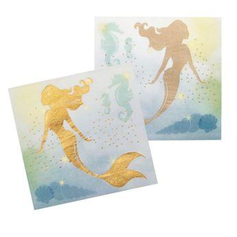 Imagen de Servilletas Sirena Elegante dorada (12)