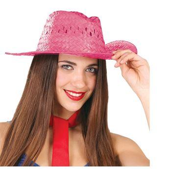 Imagen de Sombrero de Paja Verano Rosa