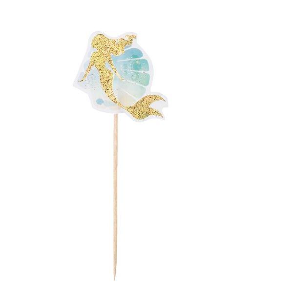 Imagen de Pinchos Sirena elegante dorada (12)