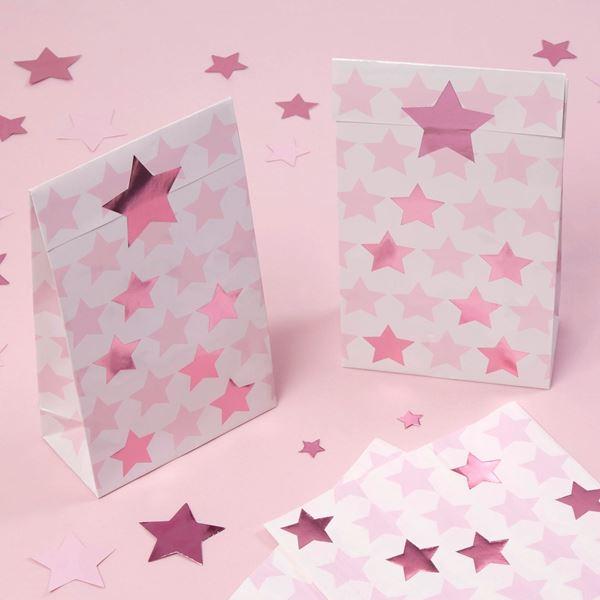 Imagen de Bolsas de cartón Estrella Rosa (5)