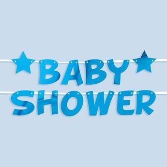 Imagen de Guirnalda Baby Shower Azul Estrellas