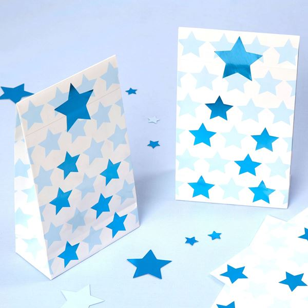 Imagen de Bolsas de cartón Estrella azul (5)