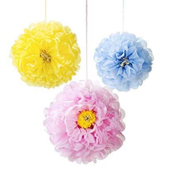 Picture of Pompón flores pastel (3)