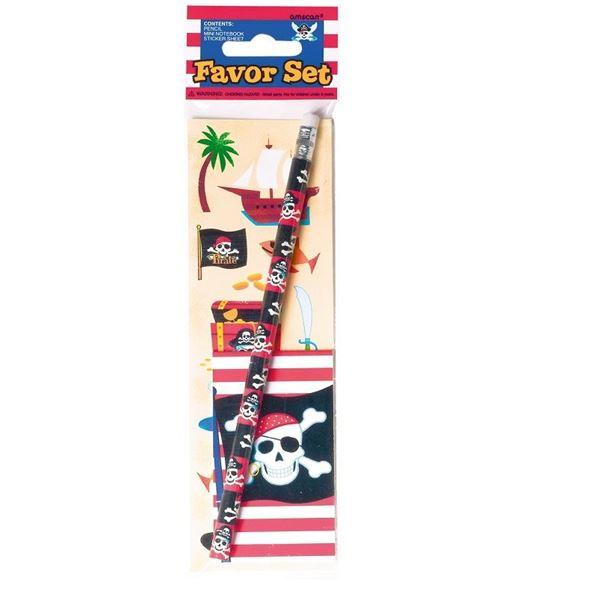 Imagen de Set Pirata de lápiz pegatina con Libreta