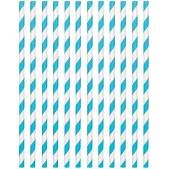 Imagen de Pajitas con rayas azul caribe (24)