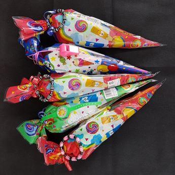 Imagen de Bolsa cono con chuches y juguete (Sin Gluten)