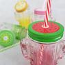Imagen de Jarra de cristal cactus con tapa de frutas colores