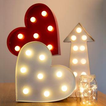 Imagen de Cartel corazón con luz