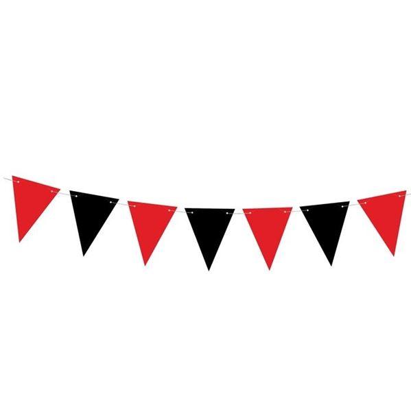 Imagens de Banderín pirata negro y rojo (1,3m)