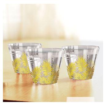 Picture of Vasos Plástico Hojas doradas (30)
