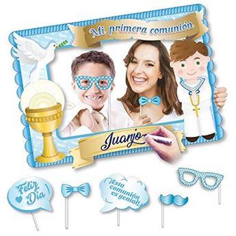 Imagen de Marco photocall Comunión Niño con accesorios