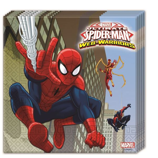 Imagen de Servilletas Spiderman warrior (20)