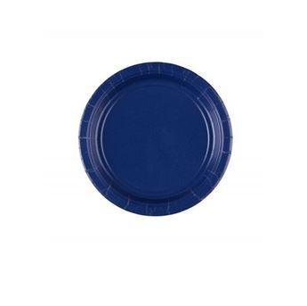 Imagens de Platos de cartón azul oscuro pequeños (8)