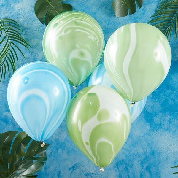 Picture of Globos Latex mármol azul y verde (10)