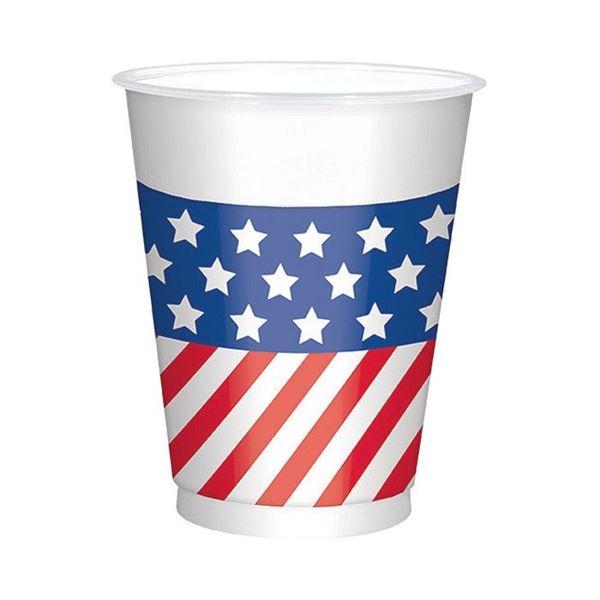 Imagen de Vasos de plastico grandes USA (25)