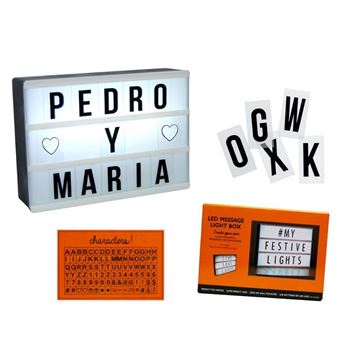 Picture of Lightbox caja de letras con luz (15x10cm)