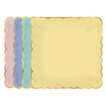 Imagens de Platos colores pastel surtidos grandes (8)
