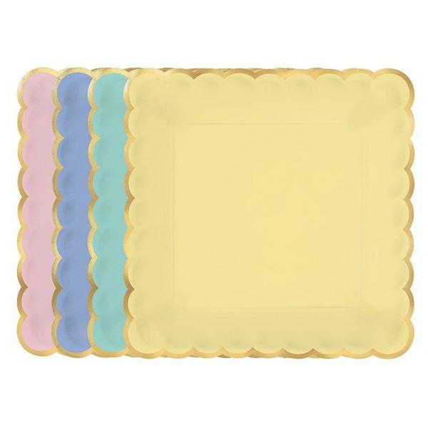 Picture of Platos colores pastel surtidos grandes (8)