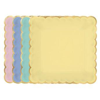 Imagen de Platos colores pastel surtidos pequeños (8)